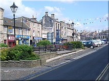 NZ0516 : Looking up Market Place, Barnard Castle by Nick Mutton