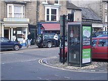 NZ0516 : Telephone box in Market Place, Barnard Castle by Nick Mutton
