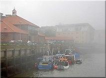 NZ4057 : The fog on the Wear by Steve  Fareham