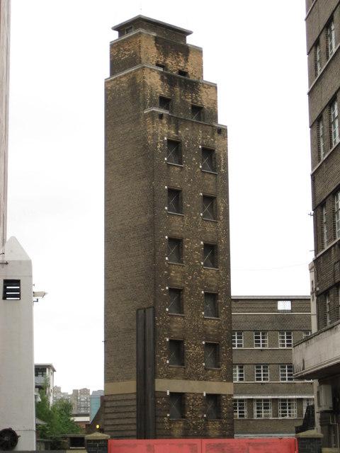 Lambeth: London Fire Brigade Headquarters drill tower