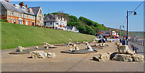 TA1280 : Crazy Golf, Filey seafront by Peter Church