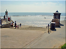 TA1280 : Slipway down to Filey beach by Peter Church