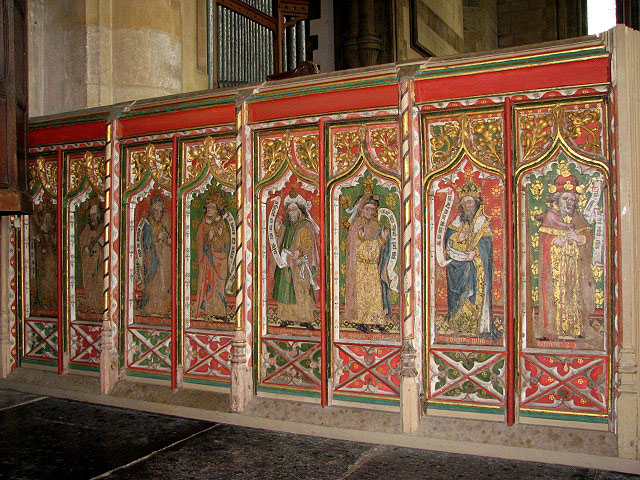 The church of All Saints - rood screen dado