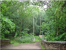 SK1705 : Entrance to Hopwas Hays wood by greg magee