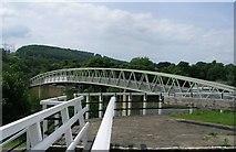 SE1039 : Footbridge over Bingley By-pass near Three Rise Locks by Betty Longbottom