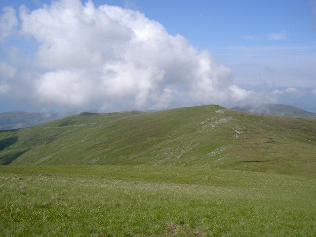 Looking back along the ridge I've walked