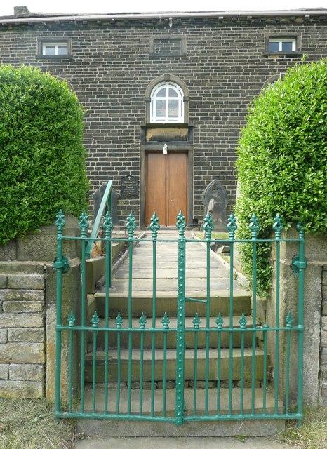 Entrance to Rishworth Congregational Chapel, Parrock Nook, Rishworth