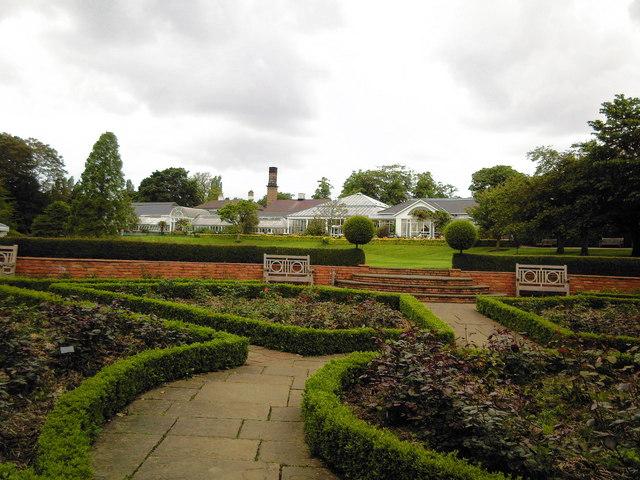 Birmingham Botanical Gardens, rose garden.