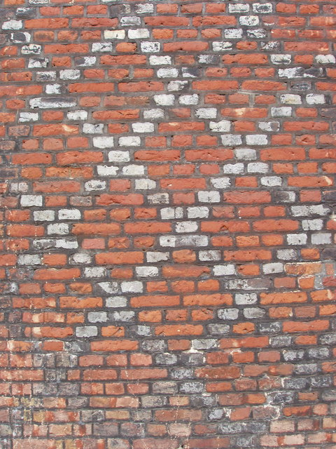 Diaper pattern tudor brickwork at Fulham Palace