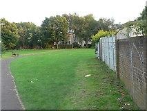 SZ0794 : Ensbury Park: walkway to Hibberd Way by Chris Downer