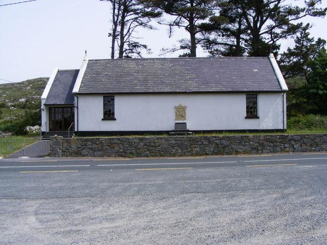 Church near Gortmore - An Gort Mhór Townland
