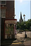 SP0198 : Haberdashery & St Matthews Church by Derek Bennett