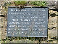 NZ2164 : Plaque at the Vallum crossing at Benwell Fort by Mike Quinn