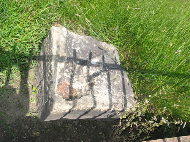 Gateway pivot stone at the Vallum crossing at Benwell Fort
