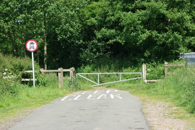 The end of Marsh Lane