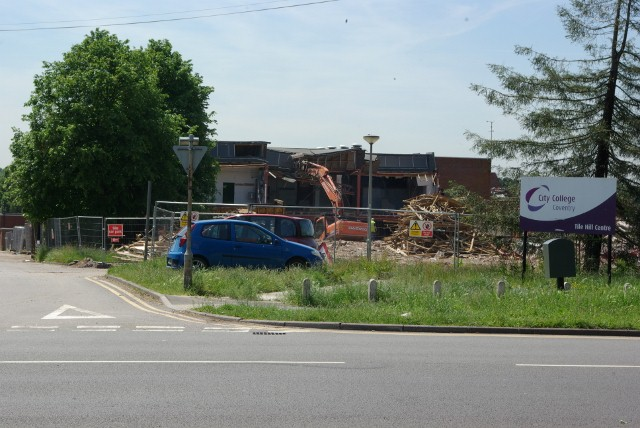 City College, Coventry being demolished