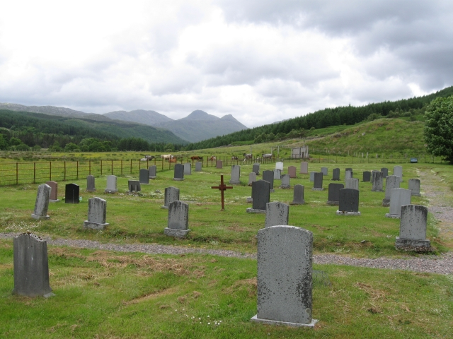 Burial Ground - not attached to any church, kirk or chapel