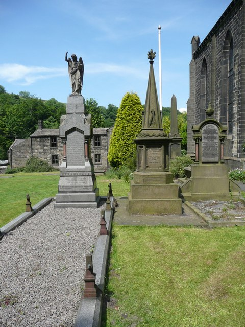 Hinchliffe memorials, Cragg Vale, Mytholmroyd