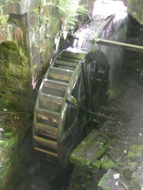 Water wheel, Paper Mill, Cragg Vale, Mytholmroyd