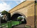 TQ3773 : Skew arch railway bridge, Catford by Stephen Craven