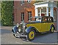 TQ3499 : Yellow Rolls Royce, Capel Manor, Bulls Cross, Enfield by Christine Matthews