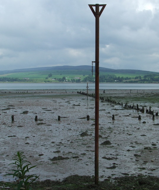Measured Mile post in the Clyde at Parklea