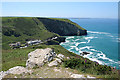 SX0586 : Tintagel: above Trebarwith Strand by Martin Bodman