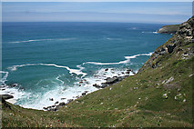 SX0486 : Tintagel: above Lil Cove by Martin Bodman