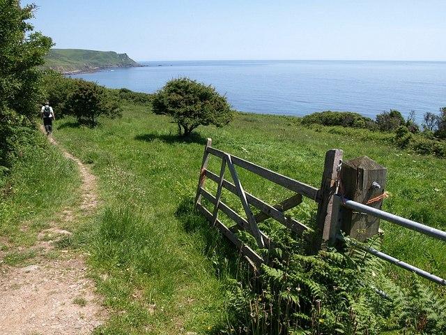 Coast path near Woodcombe Sand