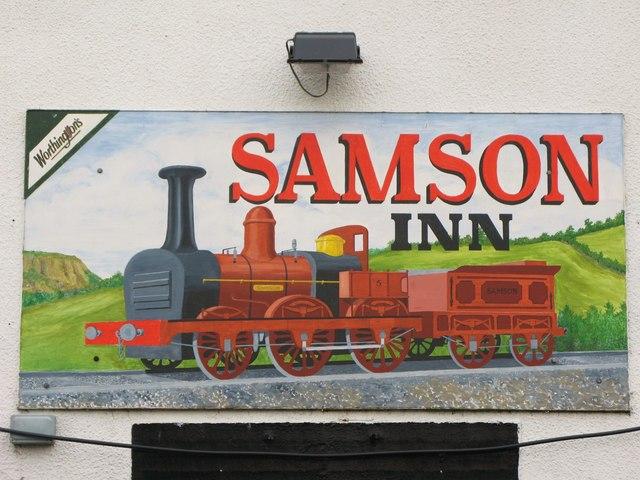 Sign for the Samson Inn