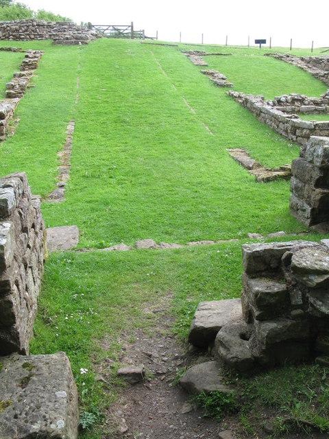 The northern gateway of Milecastle 48 (Poltross Burn)