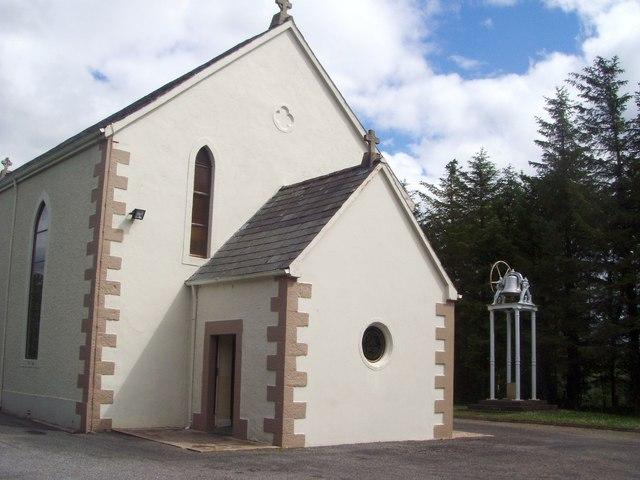 Church and bell at Leitir Beara