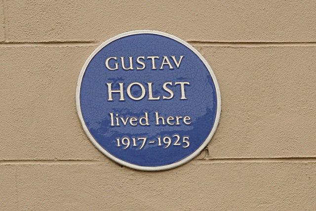 Gustav Holst blue plaque