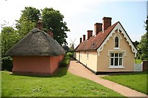 TL6030 : Thaxted Almshouses by Richard Croft