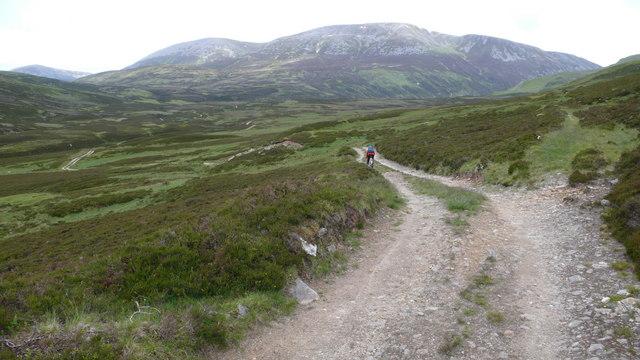 Track towards Glen Loch