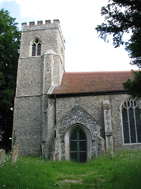 The church of All Saints - porch and tower