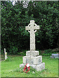 TM0099 : St Peter's church - war memorial by Evelyn Simak
