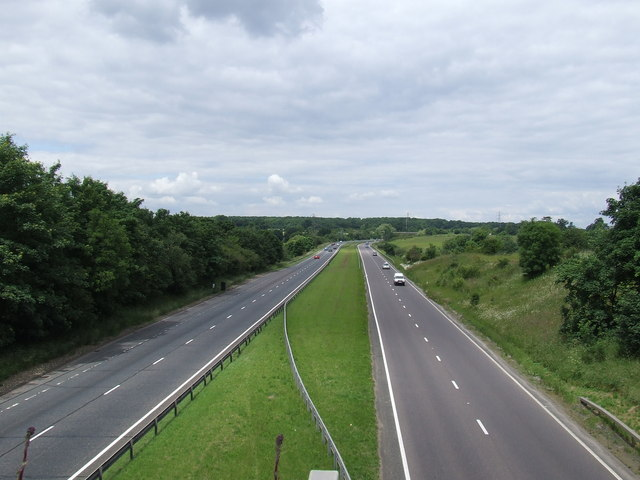 A10 north from Cock Lane