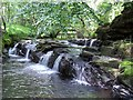 SN6806 : Cascades on the Lower Clydach River by Nigel Davies
