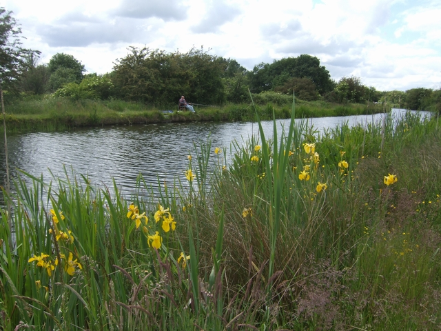 Fishing beside the Wyrley and Essington Canal