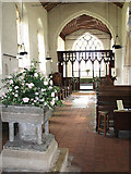 TF9434 : St Mary's church - view east by Evelyn Simak