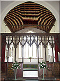TF9434 : St Mary's church - C15 rood screen by Evelyn Simak