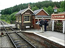 SE8191 : Levisham station, North Yorkshire Moors Railway by Brian Robert Marshall