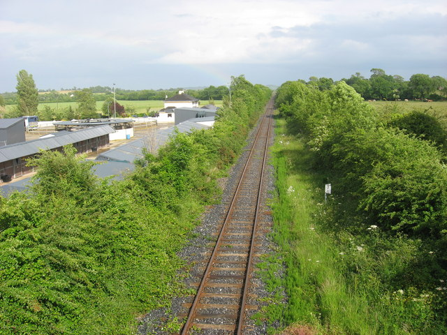 Railway line at Lougher