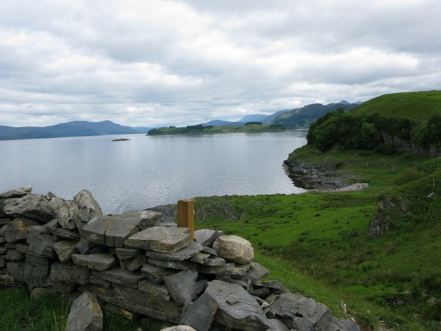 Loch Linnhe towards Shuna from Lismore