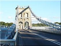 SH5571 : Pont y Borth/Menai Bridge by Robin Drayton