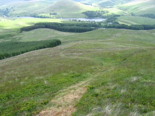 Seamab Hill towards Castlehill Reservoir