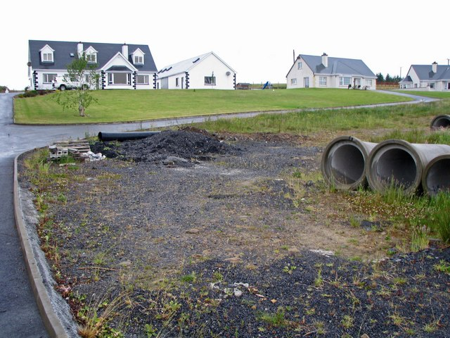 New homes and pipeline construction along the N56 road