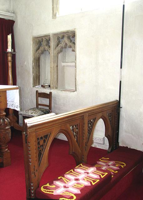 St Mary's church - double piscina