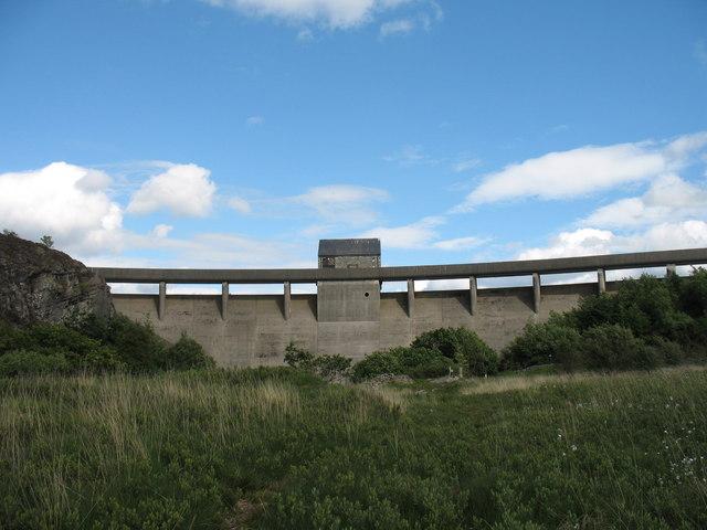 Trawsfynydd lake dam